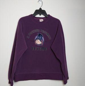 Disney Store Eeyore Positive Pessimist SweatShirt
